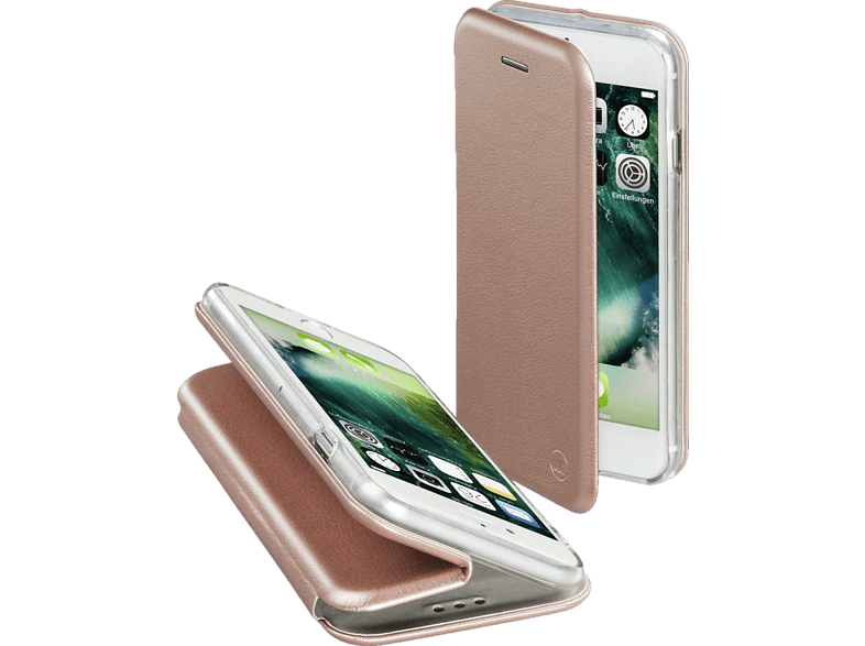 HAMA  Curve Bookcover Apple iPhone 7 Polyurethan/Thermoplastisches Polyurethan Rosegold | 04047443351395