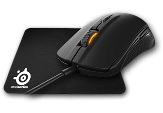 STEELSERIES Rival 100 Siyah Mouse + Qck Mini Mousepad