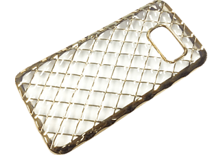 AGM Grid Case Handyhülle, Gold/Transparent, passend für Samsung Galaxy S7