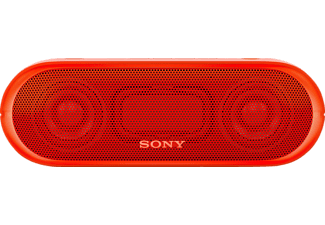 SONY SRS-XB 20, Bluetooth Lautsprecher, Near Field Communication, Wasserfest, Rot
