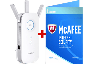 TP-LINK Répéteur Wi-Fi double bande AC1750 + McAfee Internet Security (RE450)