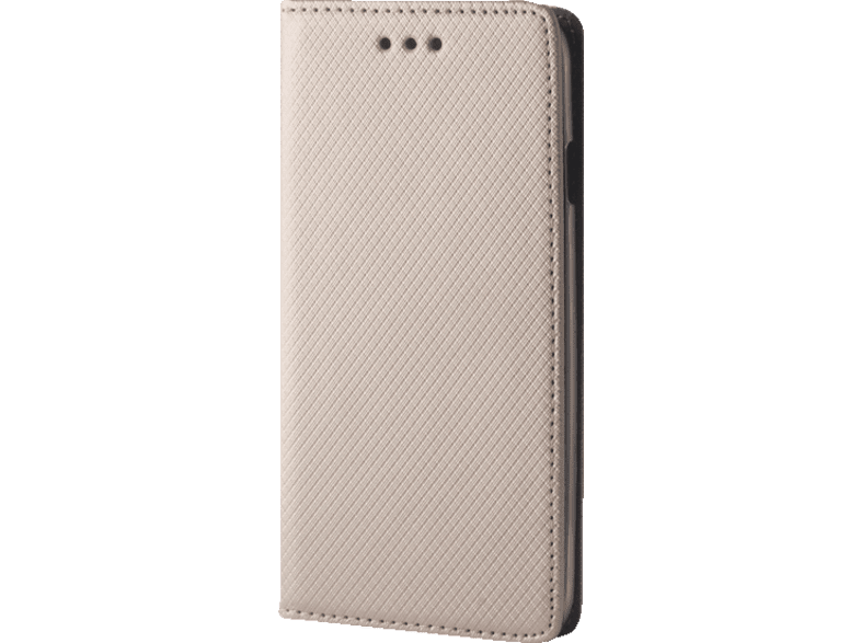 AGM Bookstyle Magnet Bookcover Samsung Galaxy S8+ Obermaterial Kunstleder Gold
