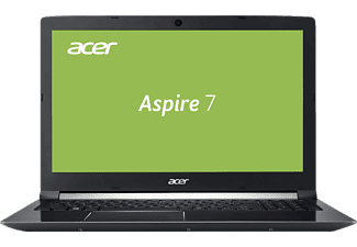 ACER Aspire 7 (A715-71-72J1), Gaming Notebook mit 15.6 Zoll Display, Core™ i7 Prozessor, 8 GB RAM, 128 GB SSD, 1 TB HDD, GeForce GTX 1050 Ti, Schwarz