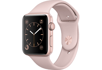 APPLE MQ142TU/A Watch Series 2, 42 mm Roze Altın Rengi Alüminyum Kasa ve Kum Pembesi Spor Kordon Outlet