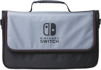 POWER A Everywhere Messenger Bag - Nintendo Switch, Aufbewahrungstasche, Schwarz/Grau