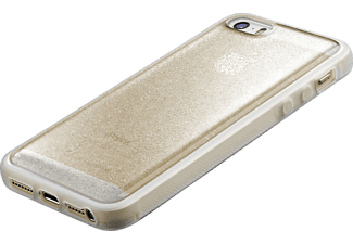 CELLULAR LINE HARD SELFIE CASE Handyhülle, Gold, passend für Apple iPhone 5, 5s, 5se