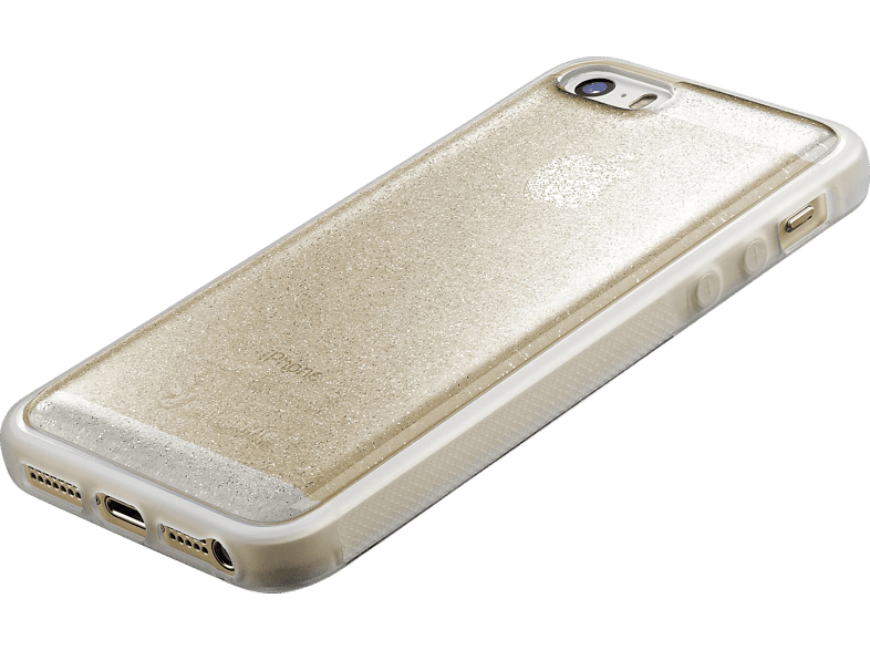 CELLULAR LINE HARD SELFIE CASE Backcover Apple iPhone 5, 5s, 5se Thermoplastisches Polyurethan Gold | 08018080288067