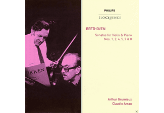 Arthur Grumiaux, Claudio Arrau - Beethoven: Sonatas for Violin & Piano Nos. 1, 2, 4, 5, 7, 8 - (CD)