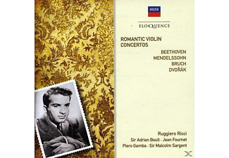 VARIOUS - Romantic Violin Concertos - (Maxi Single CD)