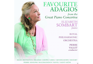 Elizabeth Sombart, Royal Philharmonic Orchestra - Favourite Adagios From The Great Piano Concertos - (CD)