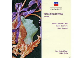 Wiener Philharmoniker, Kurt Herbert Adler, Zubin Mehta, The National Philharmonic Orchestra - Romantic Overtures Vol.1 - (CD)