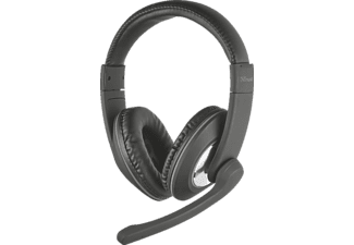 TRUST 21662 Reno Headset f. PC u. Laptop, Headset, 1.8 m, Schwarz