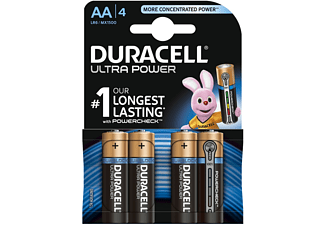 DURACELL Ultra Power AA Batterien Alkaline, 4er Pack (LR6/MX1500)