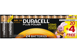 DURACELL Plus Power Alkaline AA Batterien, 24er Pack (LR6/MN1500)