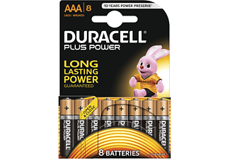 DURACELL Plus Power Alkaline AAA Batterien, 8er Pack (LR03/MN2400)