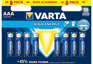 VARTA High-Energy AAA Batterie (Blau/Silber)