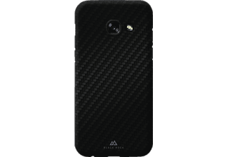 BLACK ROCK Flex Carbon Ultra Thin Iced Handyhülle, Schwarz, passend für Samsung Galaxy A3