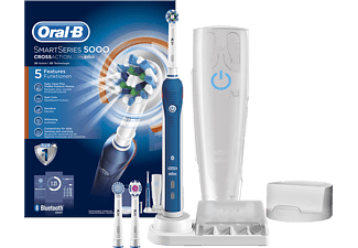 ORAL-B Smart Series 5000 Cross Action Uppladdningsbar Eltandborste - Vit