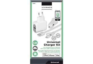 VIVANCO Lightning + Micro-USB 3i1 laddare