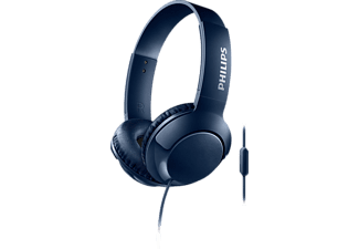 PHILIPS SHL3075BL, On-ear Kopfhörer, Headsetfunktion, Blau