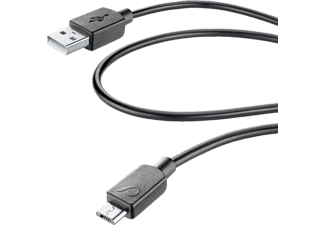 CELLULARLINE Câble microUSB 0.6 m  (USBDATA06MUSBK)