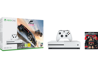 MICROSOFT Xbox One S (inkl Forza Horizon 3, Batman v Superman 4K Blu-Ray) - 500 GB