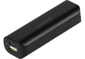 VIVANCO Power Bank 2600 mAh - Svart