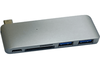 "HYPER Hub 5-en-1 USB-C HyperDrive pour MacBook 12"" Space Gray (GN21B-GRAY)"