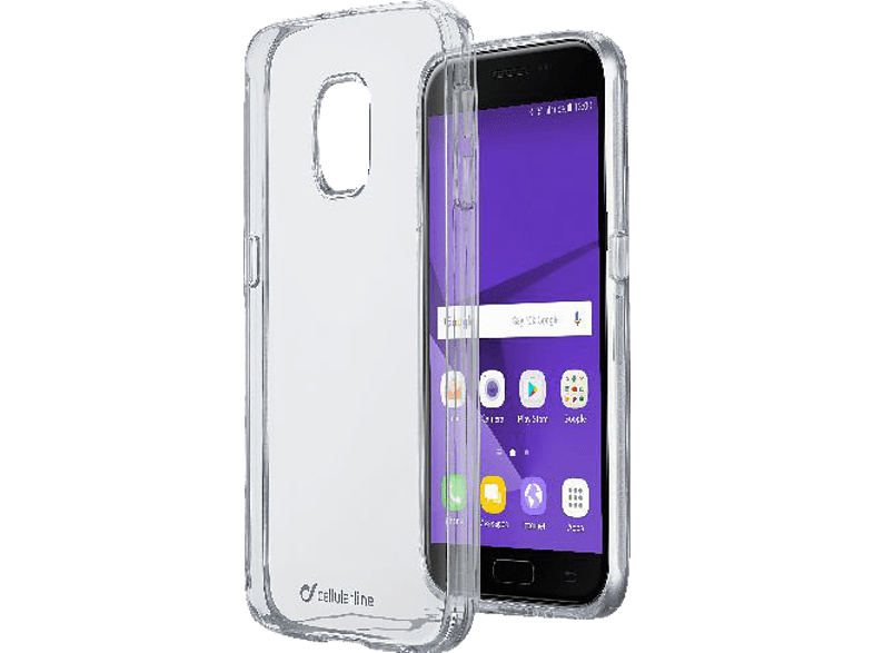 CELLULAR LINE CLEAR DUO , Backcover, Samsung, Galaxy J3 (2017), Thermoplastisches Polyurethan, Transparent