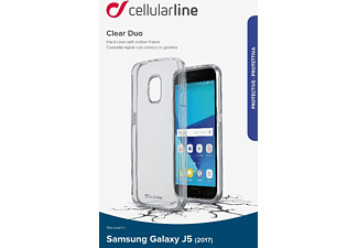 CELLULAR LINE CLEAR DUO Handyhülle, Transparent, passend für Samsung Galaxy J5 (2017)