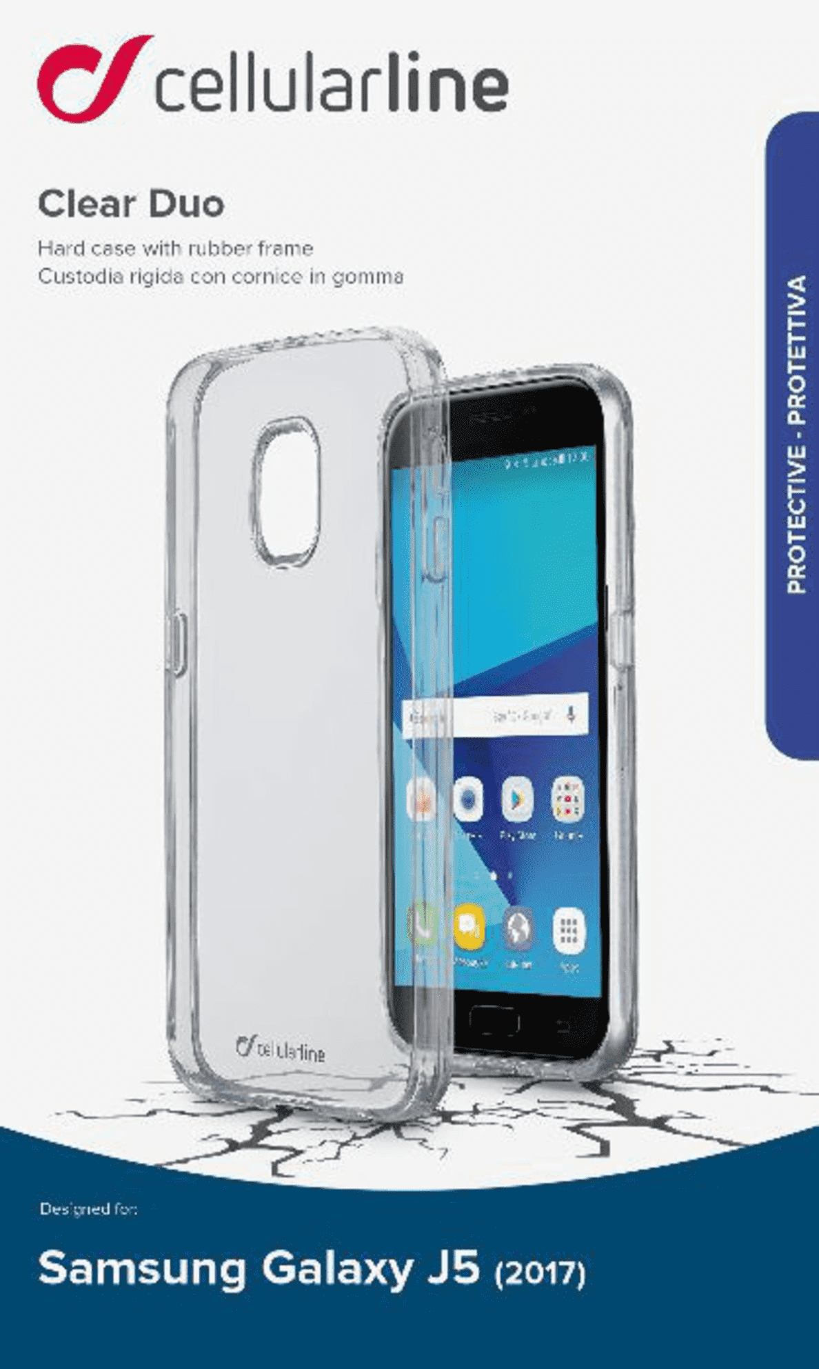 CELLULAR LINE CLEAR DUO für Samsung Galaxy J5 (2017) in Transparent