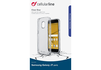 CELLULAR LINE CLEAR DUO Handyhülle, Transparent, passend für Samsung Galaxy J7 (2017)