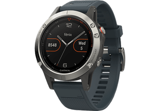 GARMIN Montre sport GPS fēnix 5 47 mm Granite Blue (010-01688-01)
