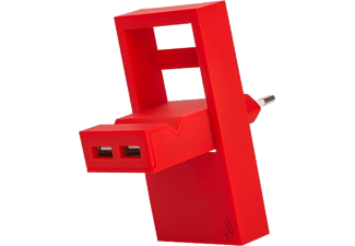 USBEPOWER Netadapter 2-in-1 ROCK Rood (USBE_ROCK_C)