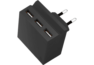 USBEPOWER Netadapter 3-in-1 HIDE MINI Zwart (USBE_MINI_HIDE_BLACK)