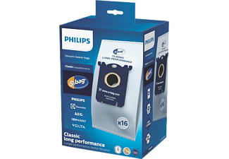 PHILIPS Classic Long Performance Staubbeutel Mega-Pack 16 Stk. (FC8021/05)