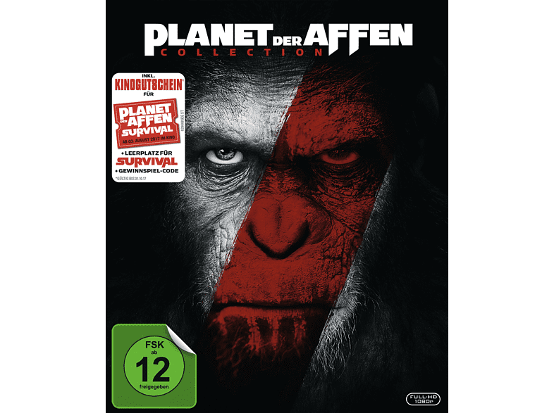 planet der affen 2er box set prevolution revolution exklusiv blu ray kinoticket f r 14. Black Bedroom Furniture Sets. Home Design Ideas