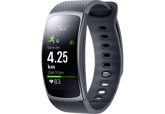 SAMSUNG Gear fit 2, Smartwatch, Kunststoff, L, Dark Grey