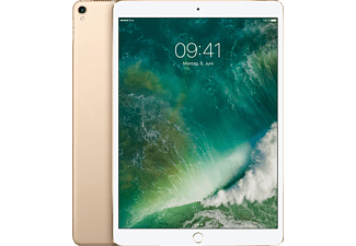 APPLE MPMG2FD/A iPad Pro Wi-Fi + Cellular, Tablet mit 10.5 Zoll, 512 GB Speicher, LTE, iOS 10, Gold
