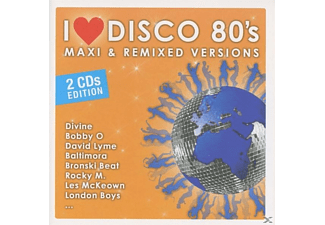 VARIOUS - I LOVE DISCO 80's-MAXI & REMIXED VERSIONS - (CD)