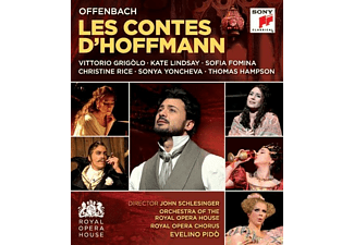 Vittorio Grigolo, Kate Lindsey, Sofia Fomina, Thomas Hampson, Royal Opera Chorus, Evelino Pido, Christine Rice, Sonya Yoncheva, Orchestra Of The Royal Opera House - Les Contes d'Hoffmann/Hoffmanns Erzählungen - (Blu-ray)