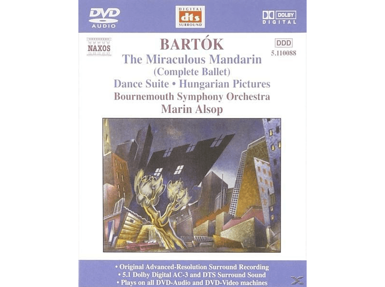 Marin Bournemouth Symphony Orchestra & Alsop - Bartók: The Miraculous Mandarin, Dance Suite, Hungarian Pict [DVD-Audio Album]