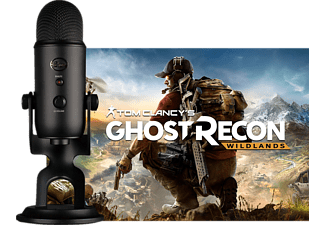BLUE MICROPHONES Blackout Yeti USB Mikrofon und Tom Clancy's Ghost Recon Wildlands, USB Mikrofon, Schwarz