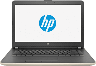 HP 14-bs030ng, Notebook mit 14 Zoll Display, Celeron® Prozessor, 4 GB RAM, 500 GB HDD, HD Graphics 400, Schwarz/Gold