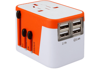 LIONHEART TRAVEL GEAR Universele reisadapter 4 x USB (LHTAO-NL)