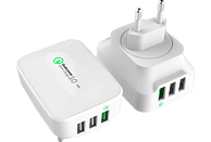 REALPOWER 3-Port wall charger QC 3.0 3-Port USB-Ladestation mit einem QC 3.0 Port