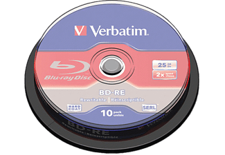 VERBATIM BD-RE 2X 25 GB 10-pack