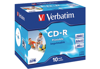 VERBATIM CD-R 52X 700MB/80MIN 10-PACK AZO-PRINTABLE
