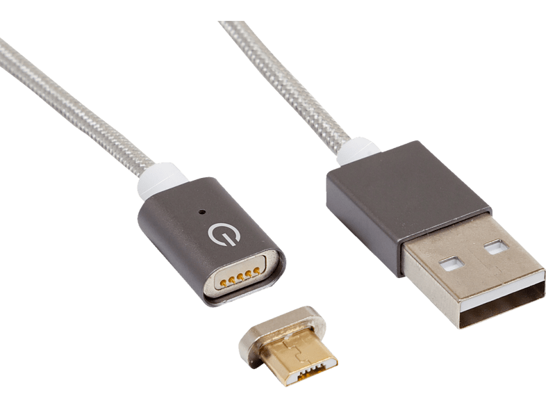 REALPOWER Magnetic tablet M Magnetisches Micro-USB Sync- und Ladekabel