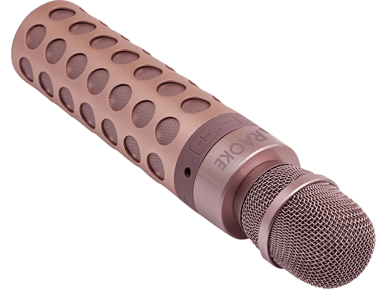 TERRATEC Karaoke Bluetooth Lautsprecher, Rose Gold
